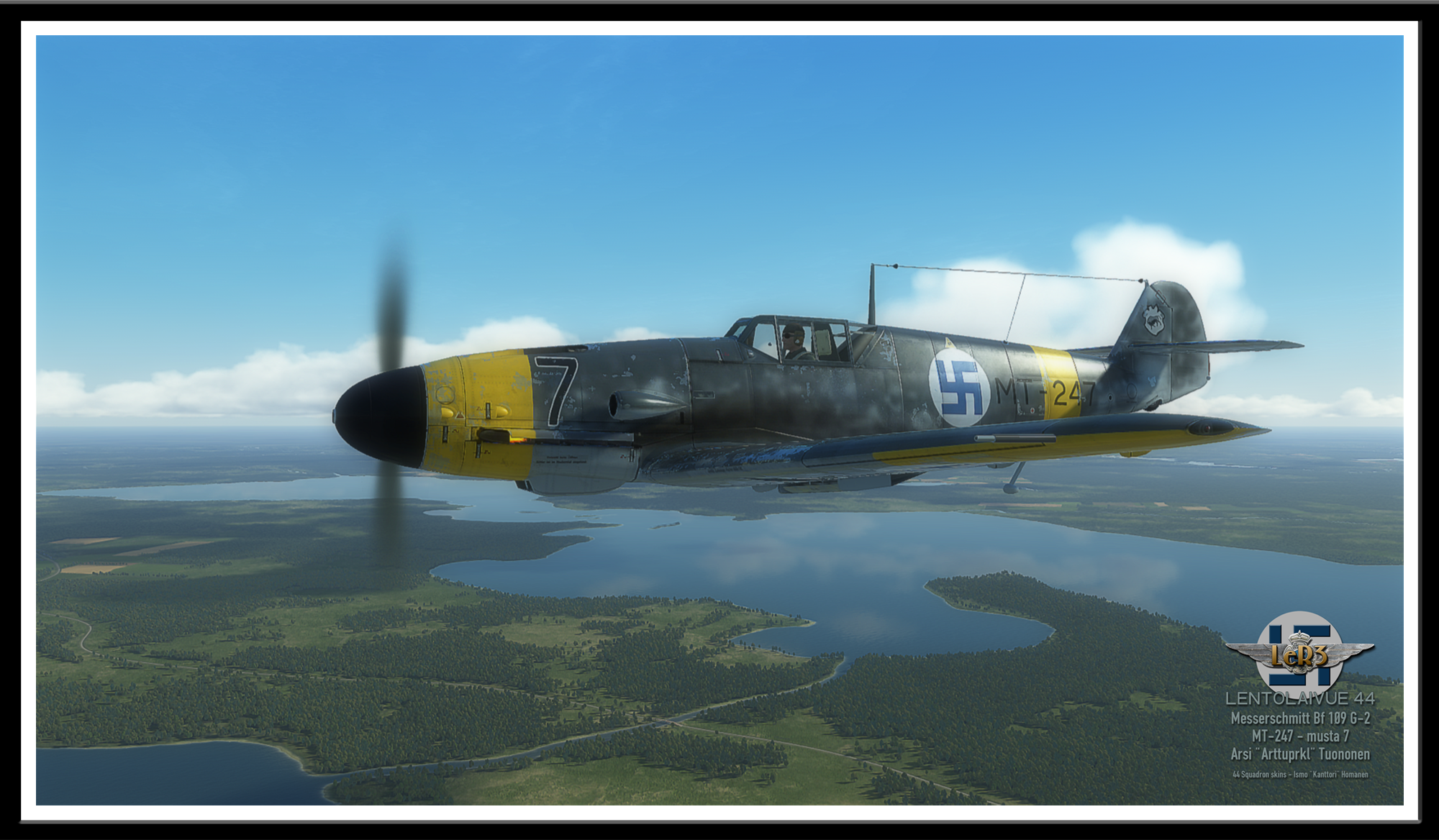 Messerschmitt Bf 109 G-2 - Lentorykmentti 3 poster example (with the screen resolution).